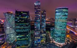Вечерний вид на Москва Сити
