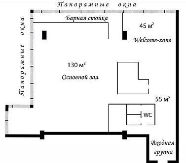 Аренда площадки в Москва Сити схема зала