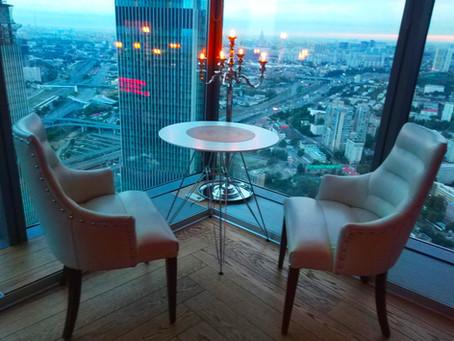 Кальянная Ресторан в Москва Сити 55 этаж Sunset