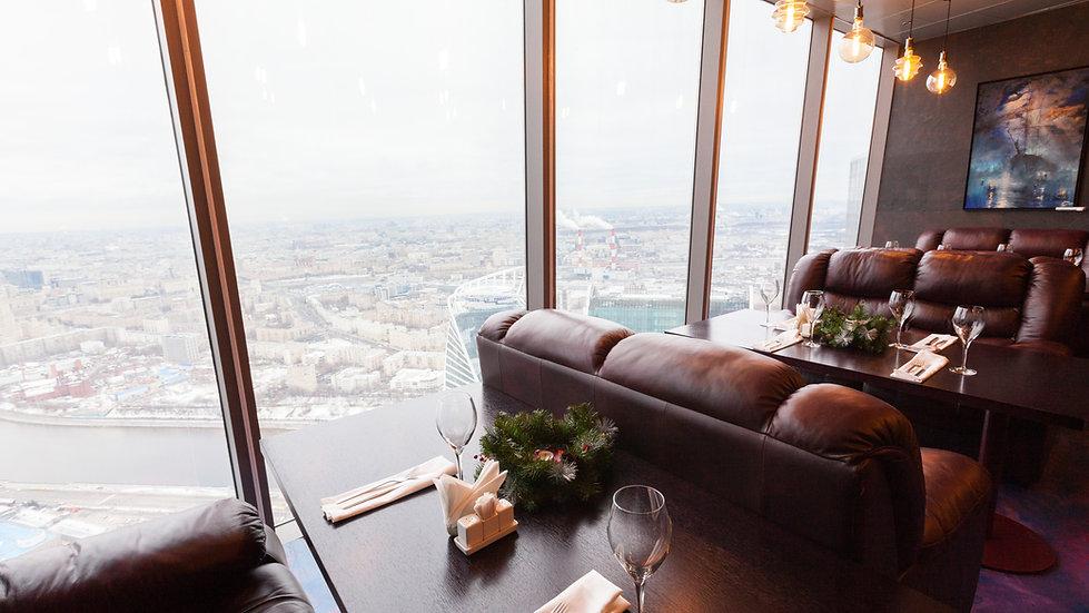 Ресторан в Москва Сити 75 этаж vision ка