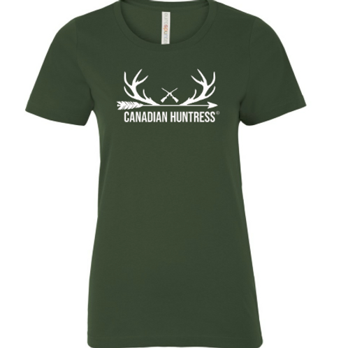 Canadian Huntress® Forest Green T-Shirt