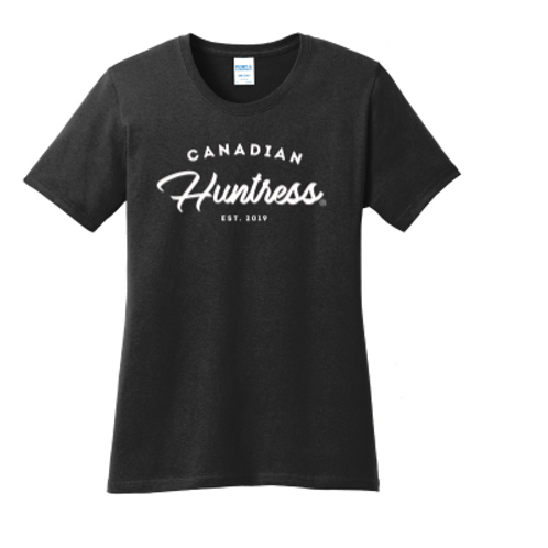 Canadian Huntress Script T-shirt