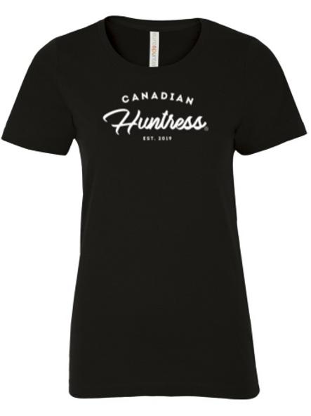 Black Canadian Huntress® Script T-Shirt
