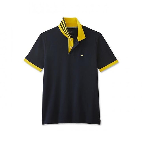 Eden Park Black and Yellow Polo