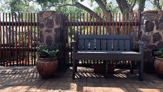 Group/Family Lodge: One of many Garden Benches