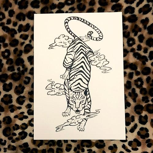 Japanese Tiger Art Print