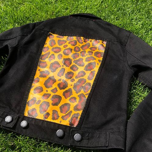 Black X Leopard Print Jacket