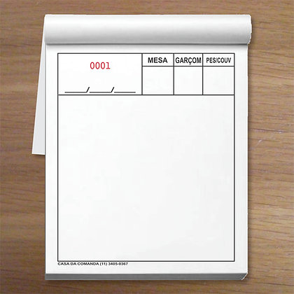 PREMIUM - 1 caixa com 25 blocos 9,5x12cm Autocopiativo em 2 vias Numeradas