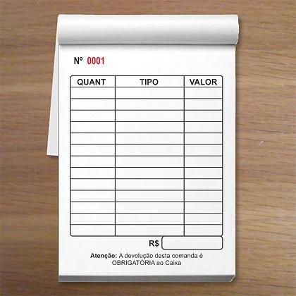 MULTIÚSO - 1 caixa com 50 blocos 7,5x10,5cm Numeradas