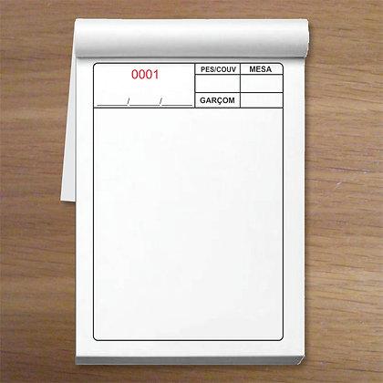 MESA 2 - 1 caixa com 50 blocos em 2 vias 7,5x10,5cm Numeradas