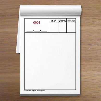 AUTO 3 - 1 caixa com 50 blocos 7,5x10,5cm Autocopiativo em 3 vias Numeradas