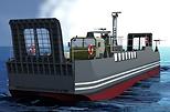 Florence Parly, ministre des Armées, se félicite de la commande de 14 engins de débarquement amphibie, maillons indispensables des navires porte-hélicoptères amphibie.