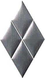 BP0024 PLATINO 32.5x56 Плитка ромб.