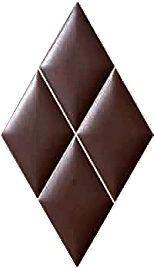 BP0022 CHOCOLATE 32.5x56 Плитка ромб.