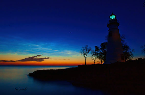 Marblehead LIghthouse and Mars