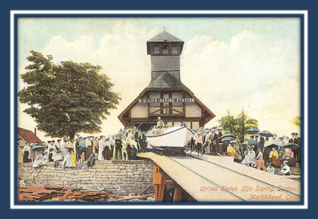 Postcard of the original Lifesaving Station