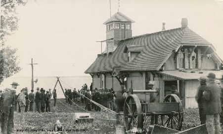 Photo of original Lifesaving Station