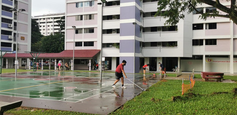 Wet Courts in rainy December don't deter us.