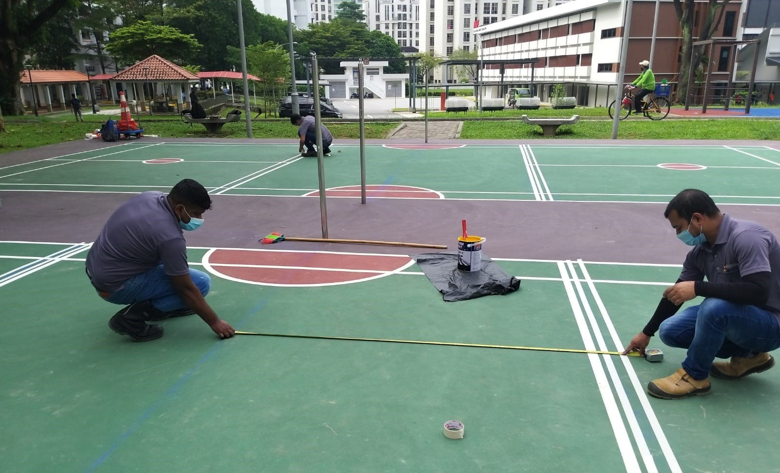 Court painted on 15 Sep 2020
