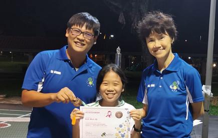 Wun Qi is so enthusiastic.  She runs or skips even to retrieve stray balls.
