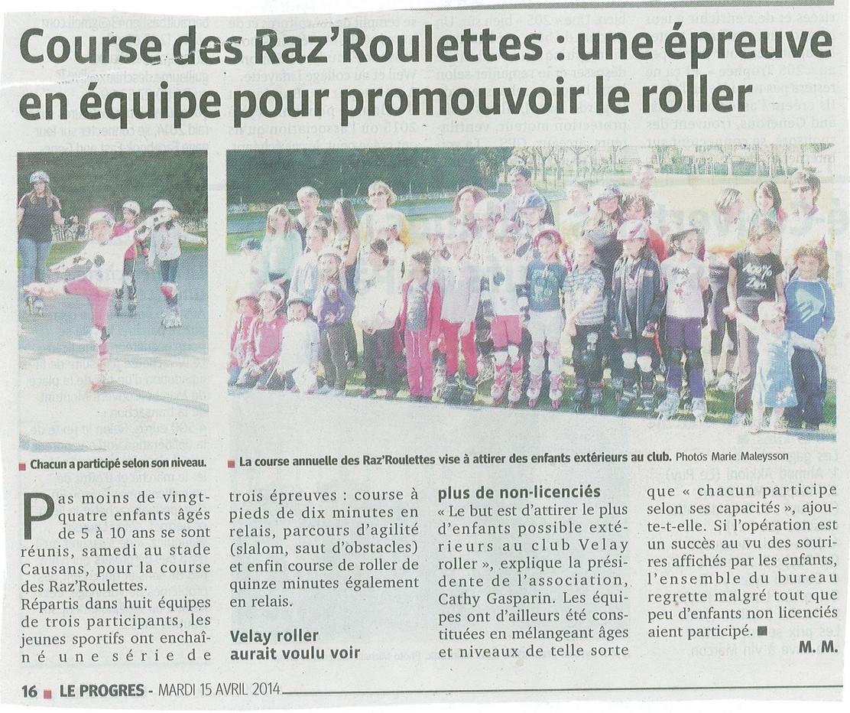 2014.04.15 Le Progres Les Raz Roulettes.