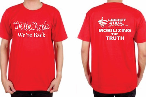 Red We The People Mobilizing The Truth T-Shirts