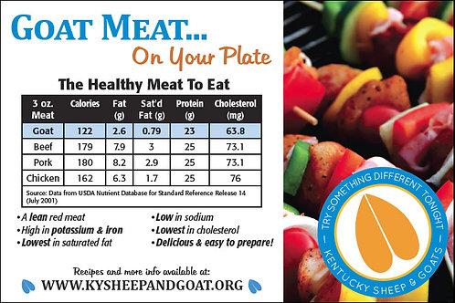 Goat Nutrition Card