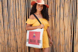 """Black and Wanderlust """"On the Go"""" Tote Bag"""