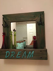 Custom Mirror using reclaimed playhouse wood