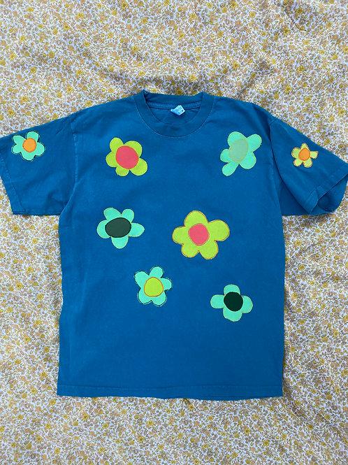 blue flower tee