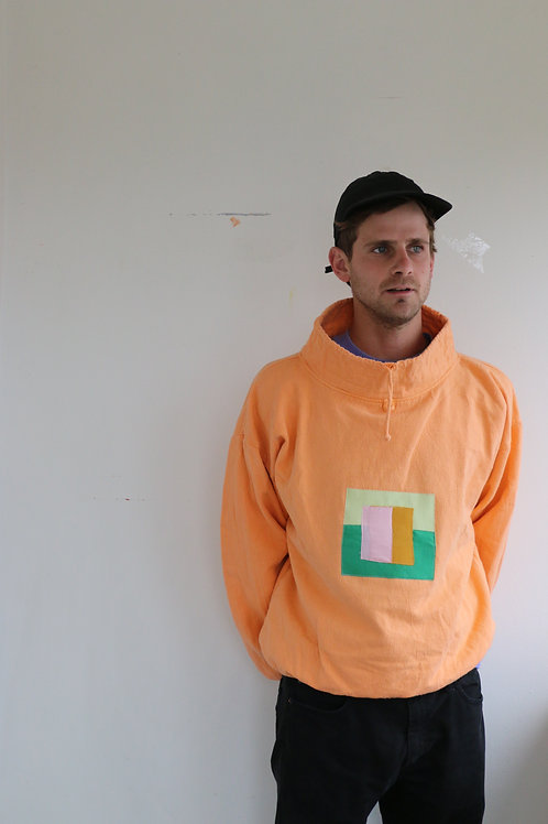 post it note neck sweater