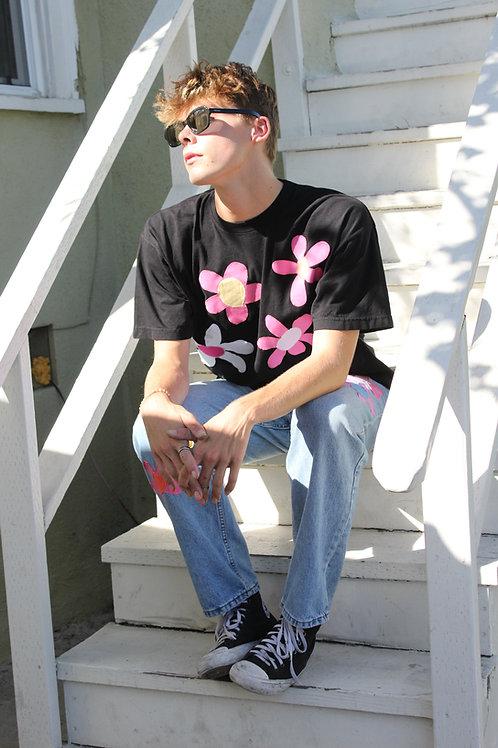 black w/pink t-shirt