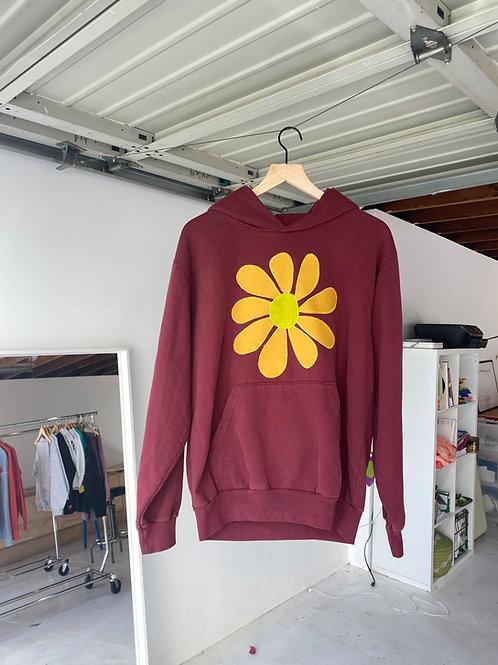 brick hoodie flower burst
