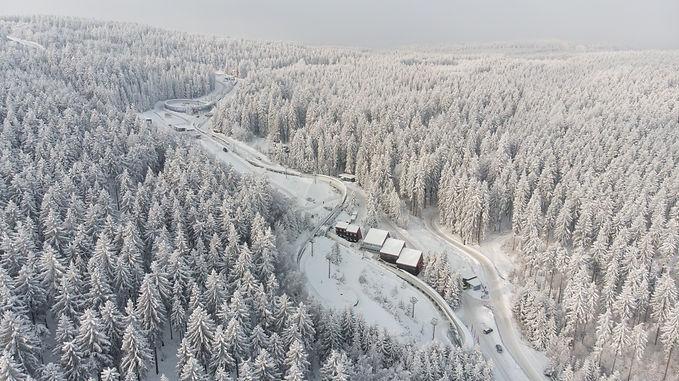 Bobbahn Altenberg Winter