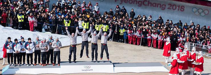 Siegerehrung Olympische Winterspiele 2018
