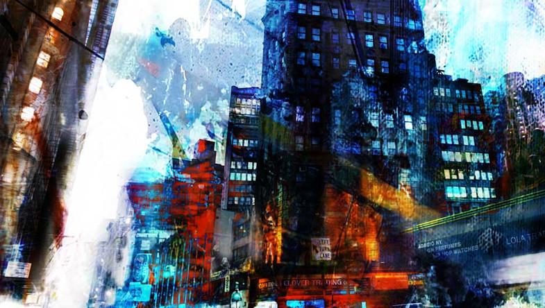 Street in the rain NY
