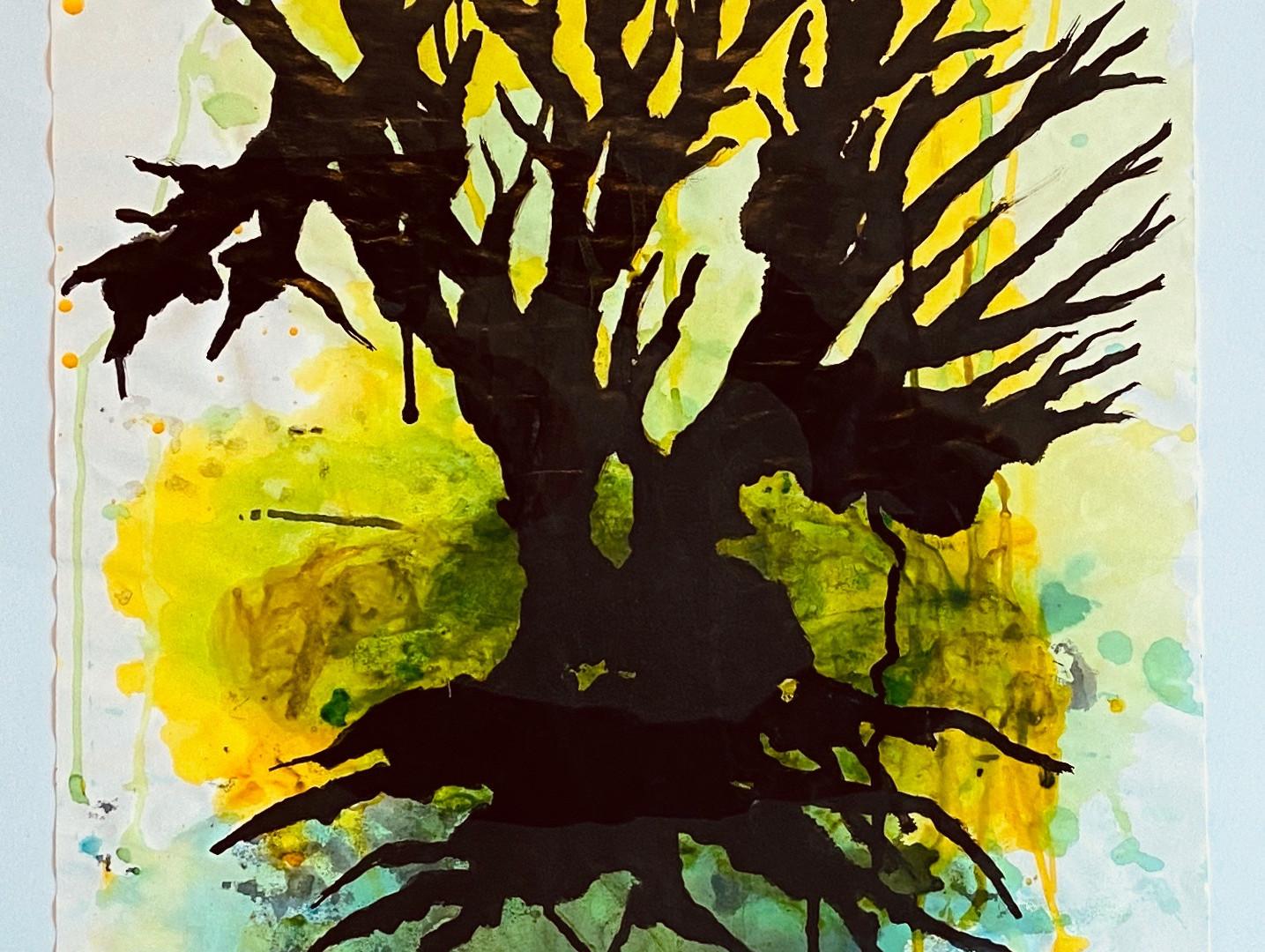 Grand arbre jaune