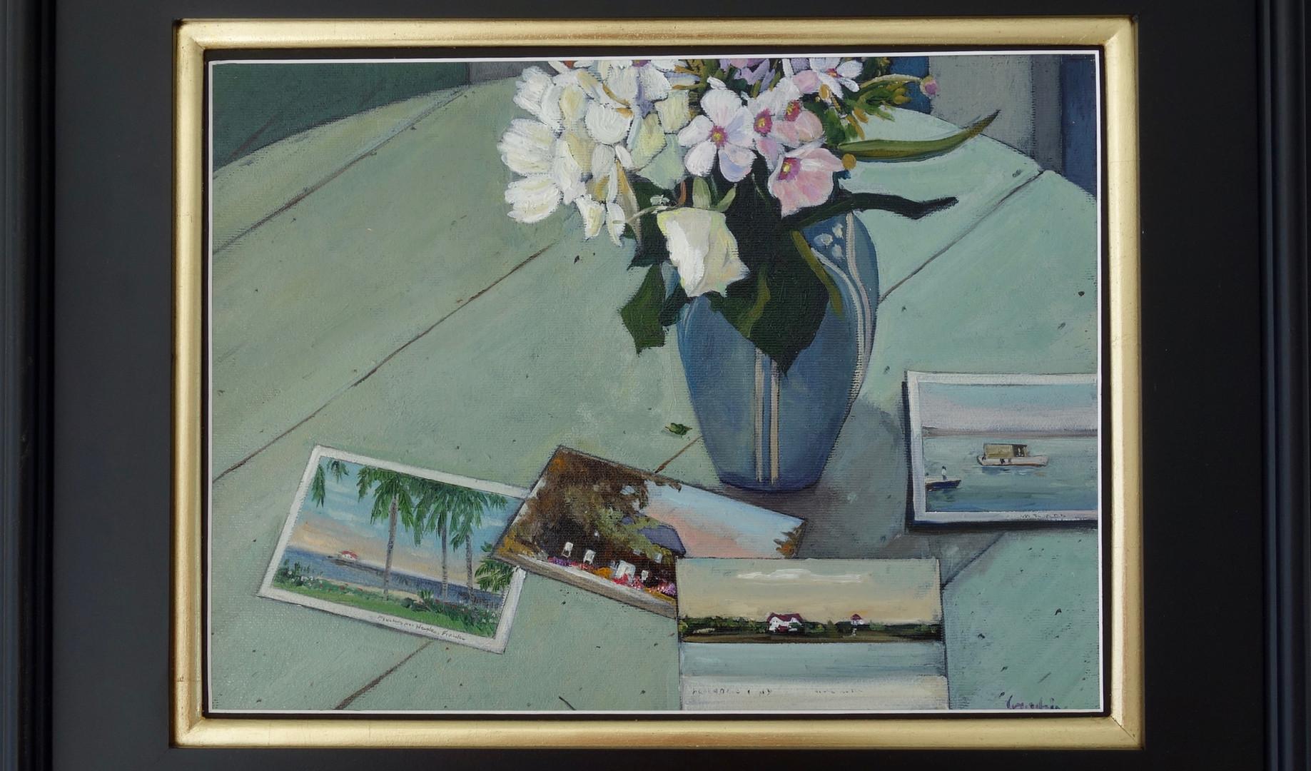 Fleurs et cartes postales