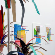 Vue de l'exposition Aesthetically Pleasing de Laurent Perbos