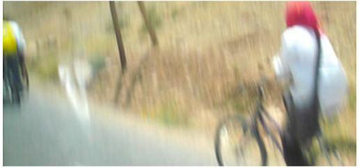 Road Movies N°14 - la cycliste au foulard rouge