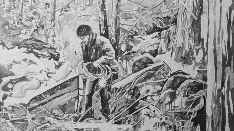 Dessiner la peinture - Dans la forêt 4