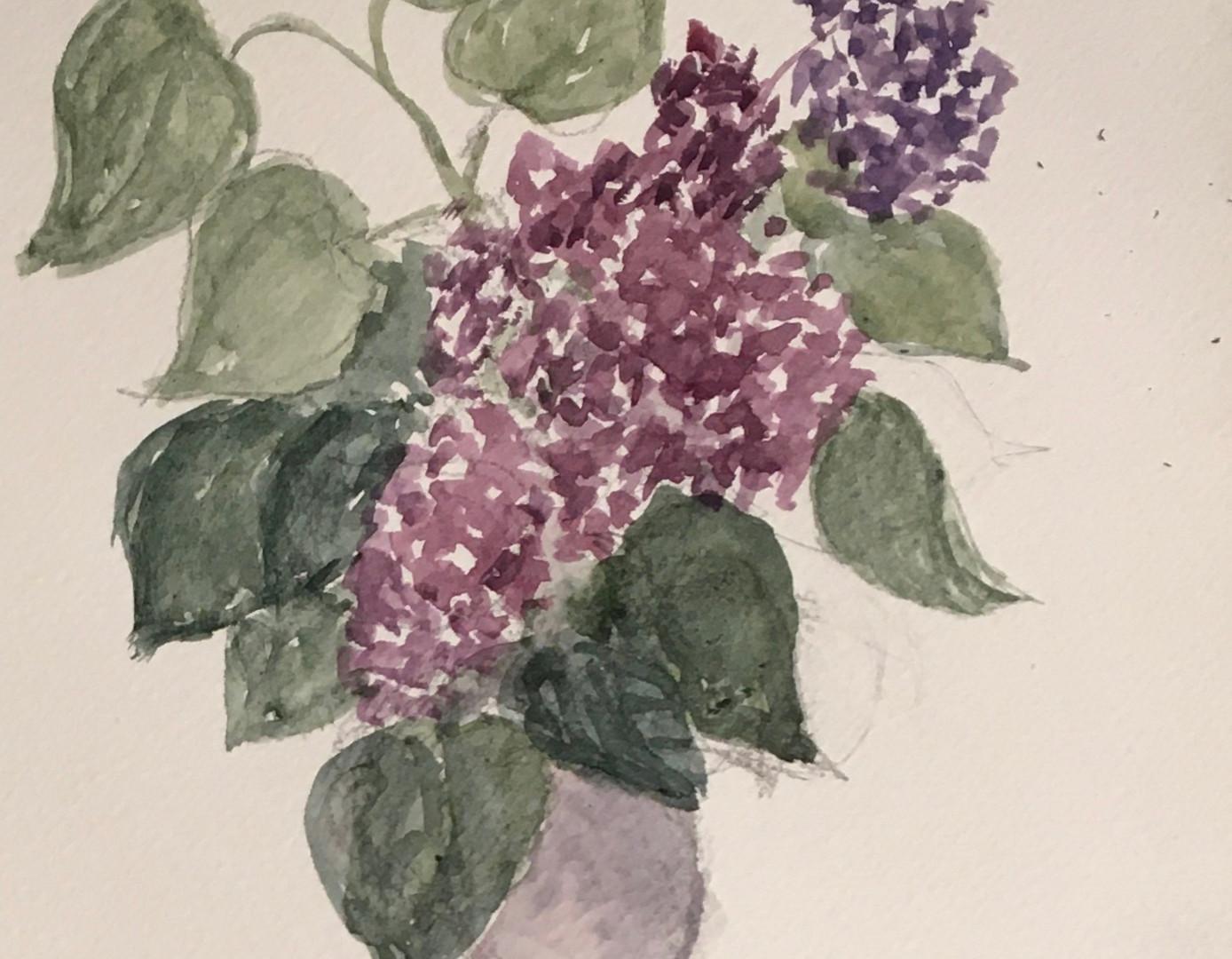 Le vase aux lilas