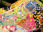 Mosaiques de Gaudi au Parc Güell