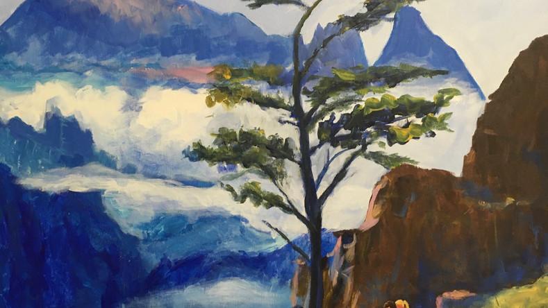 L'arbre rêveur au-dessus du nuage