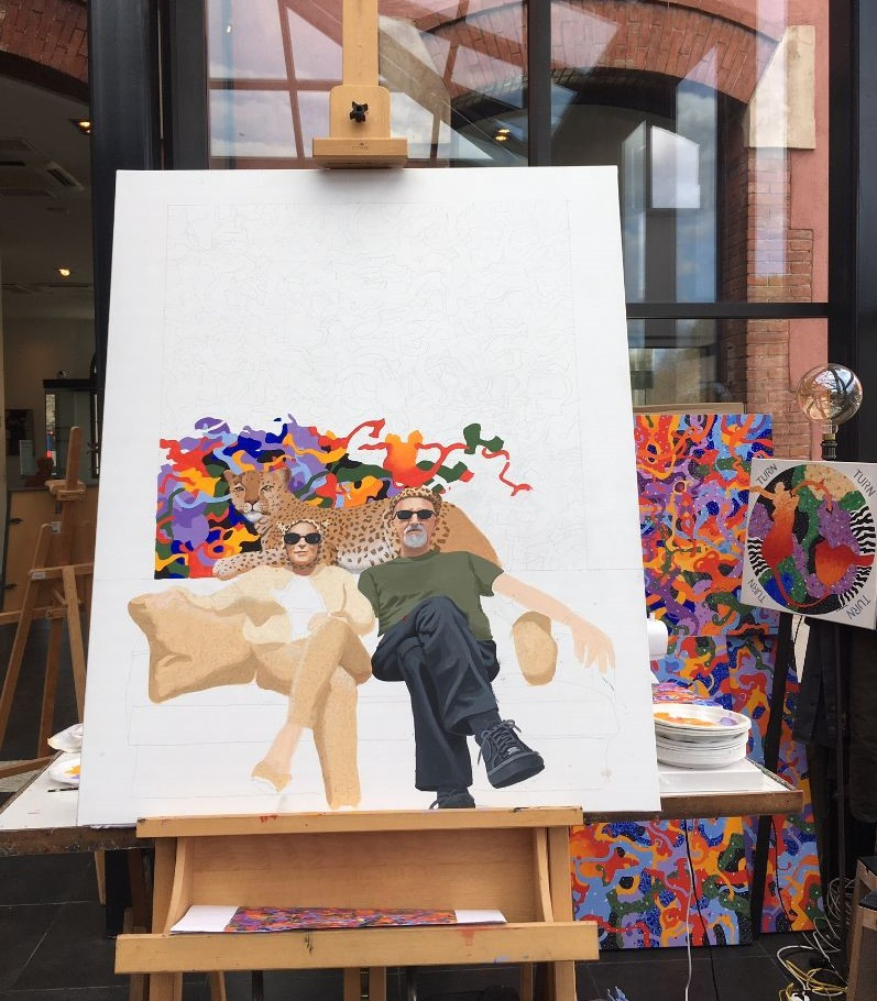 Acrylique sur toile Work in progress