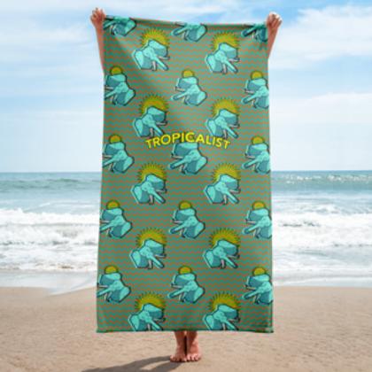Elephant Safari Wax Towel