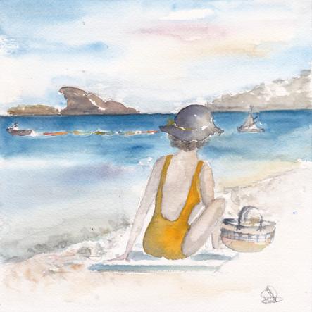 baigneuse à Saint-Cyr-sur-Mer