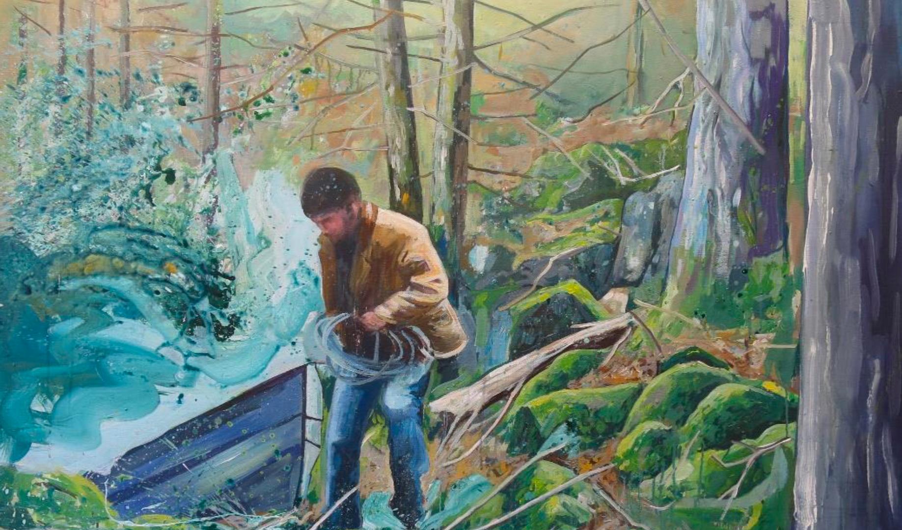 Peinture à dessiner 4, d'après le film de Gilles Marchand Dans la forêt