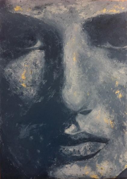 Acrylique sur toile (Techniques mixtes)