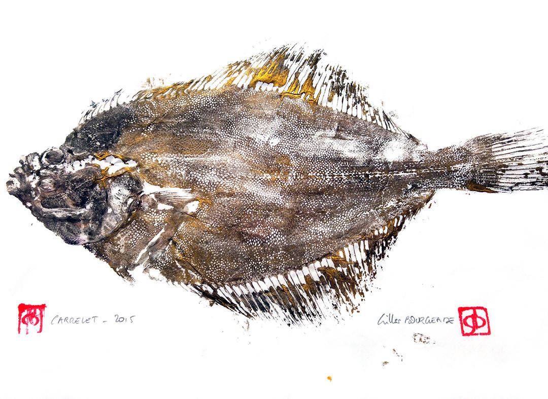 Gyotaku - Carrelet